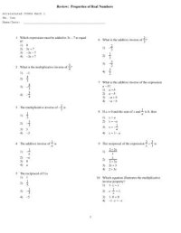 Properties of Real Numbers Especially Distributive ...