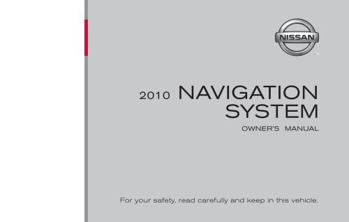 2010 Nissan Navigation System Owner's Manual (Titan)