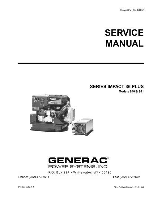 Impact 36 Plus Diagnostic Repair Manual Models