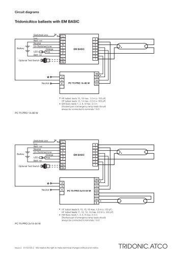 tridonic emergency ballast wiring diagram audio dali somurich com diagrams for switcrh yumpu design