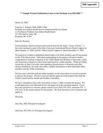 Proposed Change in Sample Solicitation Letter for Outside