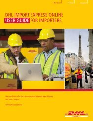 AES EEI Filing Authorization - DHL
