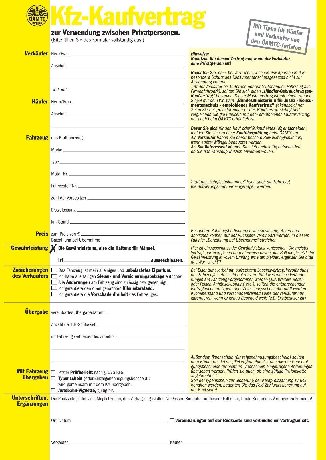 Kaufvertrag Fahrrad Vorlage Gebrauchtwagen Kaufvertrag Kaufvertrag