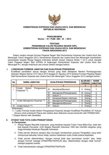 Kementerian Koperasi Dan Ukm Cpns : kementerian, koperasi, Preview, Kementerian, Negara, Koperasi