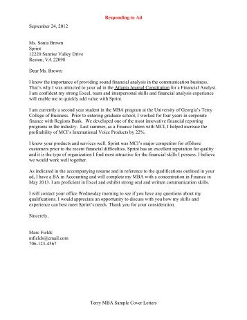 Sample cover letter in response to ad  persepolisthesiswebfc2com