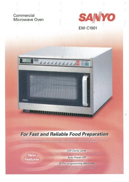 sanyo commercial microwave oven