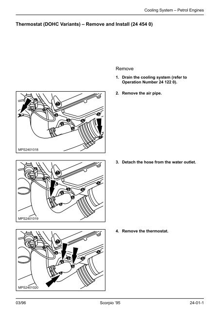 Thermostat (DOHC Variants) – Remove and Install