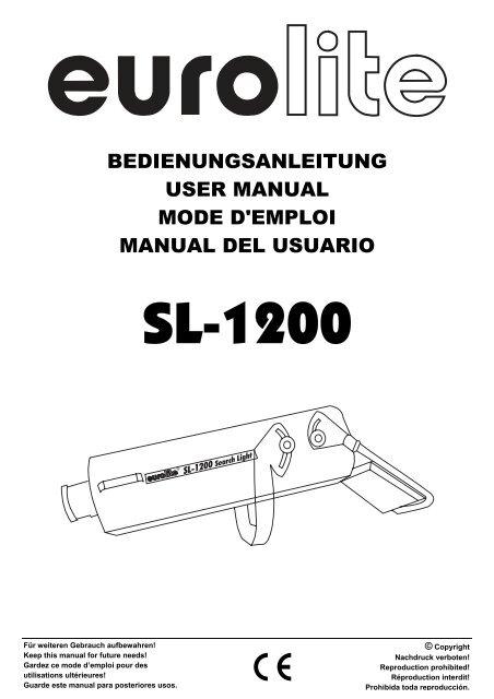 bedienungsanleitung user manual mode d'emploi manual del