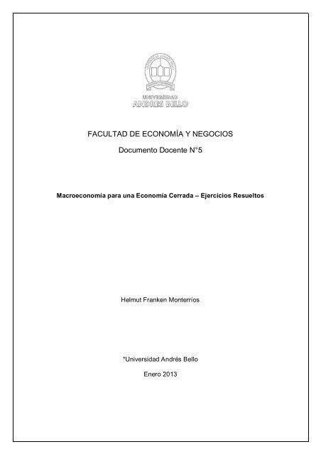 Macroeconomía para una Economía Cerrada