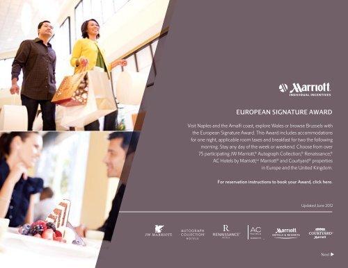 European Signature Award Marriott