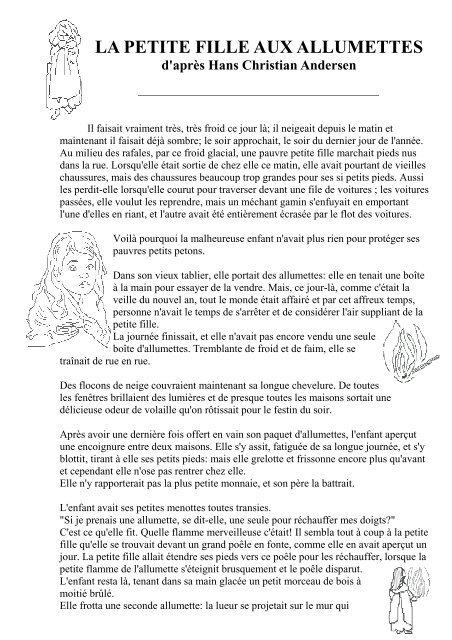 La Petite Fille Aux Allumettes Résumé : petite, fille, allumettes, résumé, Petite, Fille, Allumettes, Pedagogite