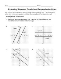 Parallel And Perpendicular Slopes Worksheet. Worksheets