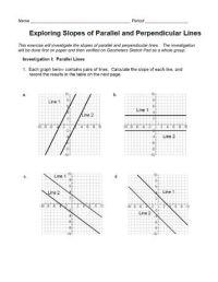 Parallel And Perpendicular Slopes Worksheet. Worksheets ...