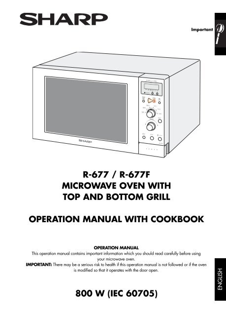 Sharp Platinum Collection Microwave Manual