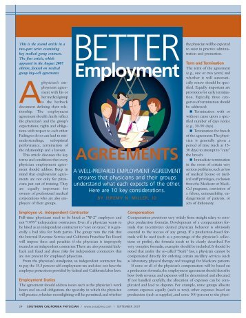 Sample Self Employment Contract - CDHA
