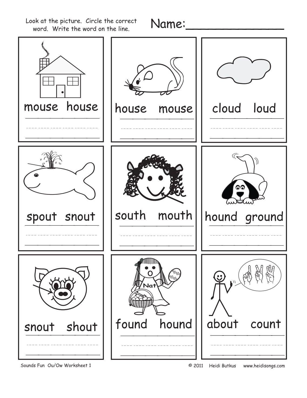 Worksheets Ou Ow Worksheets Waytoohuman Free Worksheets For Kids