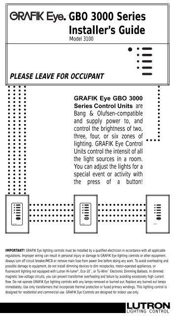 lutron grafik eye 4000 wiring diagram uverse house step 3 setting up gbo 3000