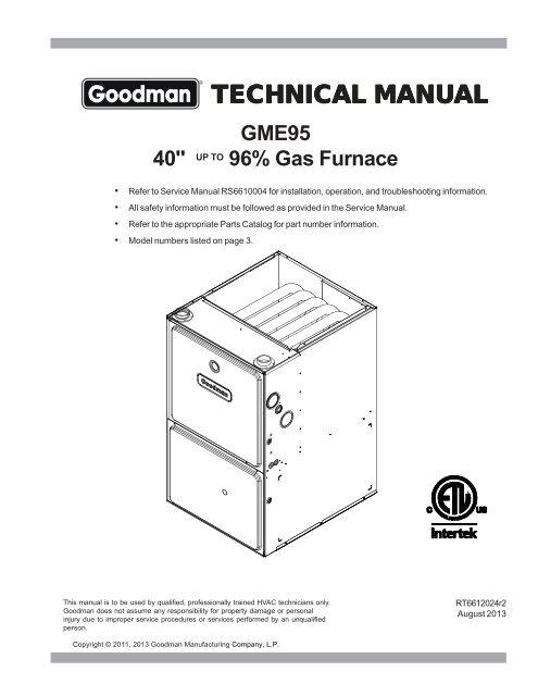 Goodman Repair Parts