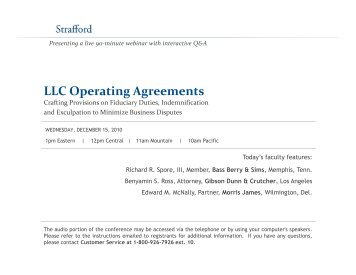 Operating Agreement for Mid-Central College Conference, LLC