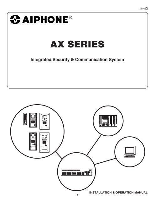 Branchement Schema Cablage Interphone Aiphone