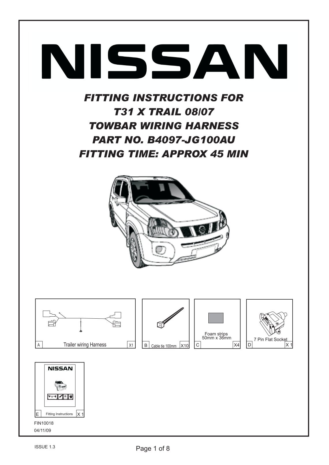 nissan x trail t30 wiring diagram volvo 240 radio towbar 36 images fitting instructions for t31 harness