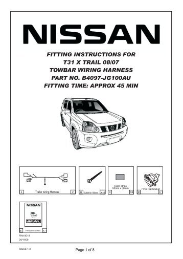 fitting instructions for nissan t31 x trail towbar wiring harness?resize\=358%2C507\&ssl\=1 nissan x trail tow bar wiring diagram wiring diagram simonand nissan navara towbar wiring diagram at readyjetset.co