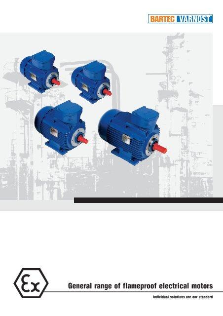 general range of flameproof electrical motors  bartec