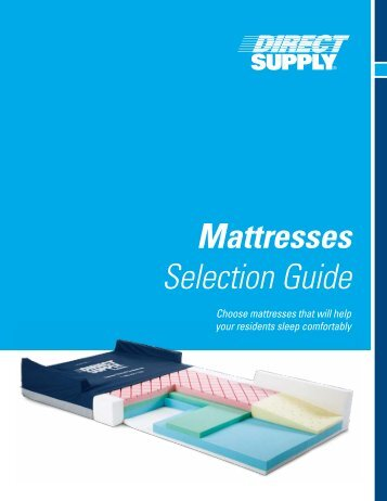 Mattresses Selection Guide Pdf Direct Supply