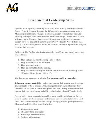 The Six Essential Leadership Attributes John Di Frances