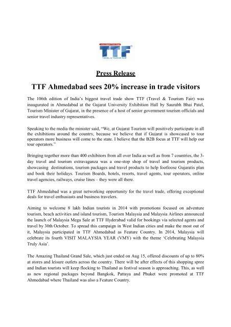 Ttf Ahmedabad Sees 20 Increase In Trade Visitors