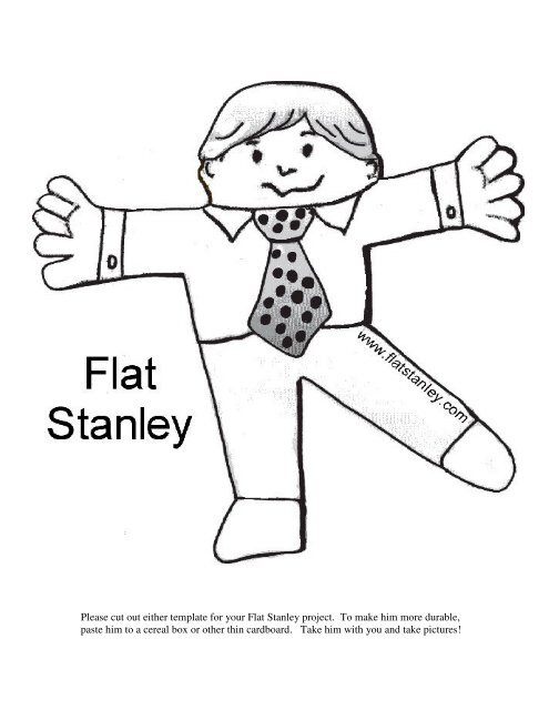 Please cut out either template for your Flat Stanley