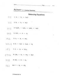 Balancing Act Worksheet Answer Key. Worksheets. Ratchasima ...