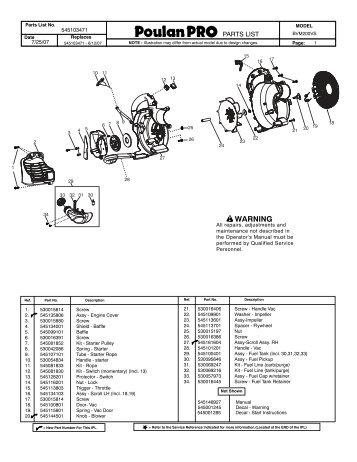 Wiring Diagram Database: Poulan Pro Bvm200vs Fuel Line Diagram