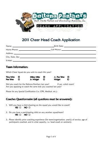 Cheer Coach Application