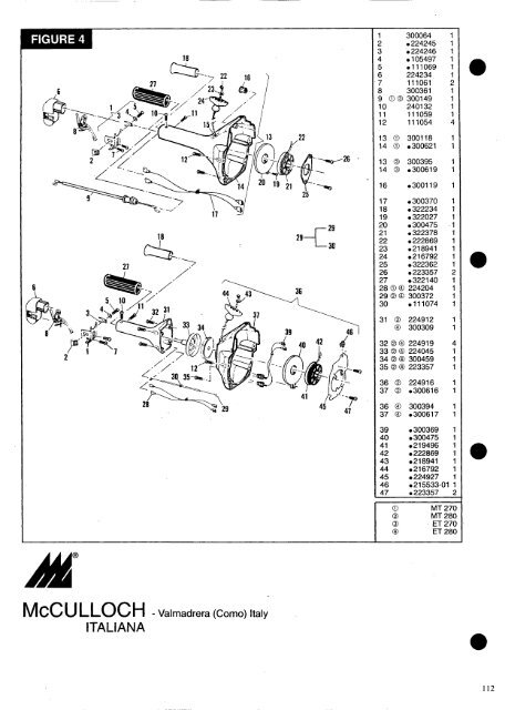 Motor Parts And Accessories List