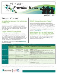 TRICARE Prime Maternity Care Flyer  Health Net Federal
