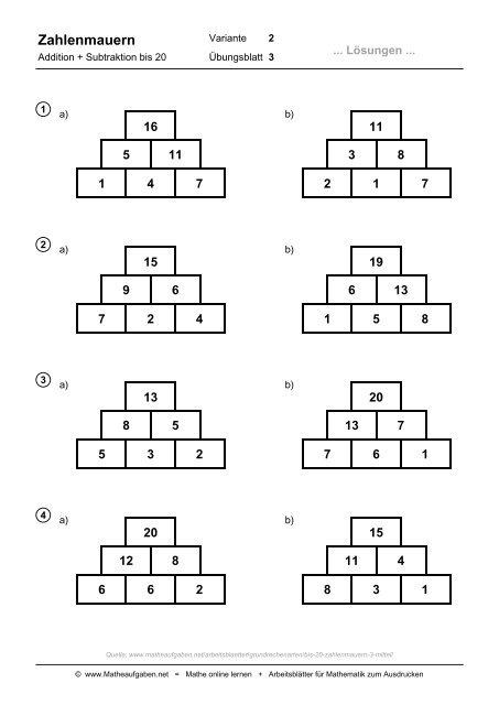 Zahlenmauern