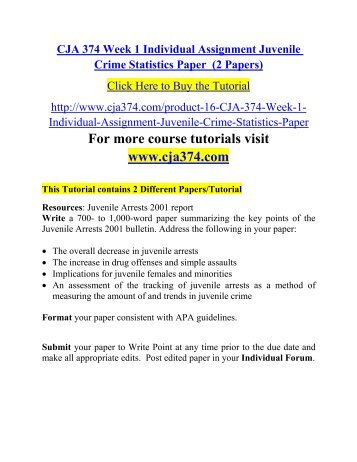 Essay On Juvenile Crime Essays Juvenile Crime Minors Tried As Adults