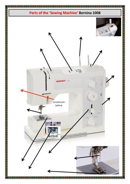 Sewing Machine Labeled : sewing, machine, labeled, Parts, 'Sewing, Machine', Bernina