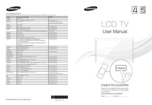 Anteprima per Samsung LE32D400E1W manuale d'istruzioni pdf