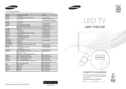 Samsung TV 3D LED 46