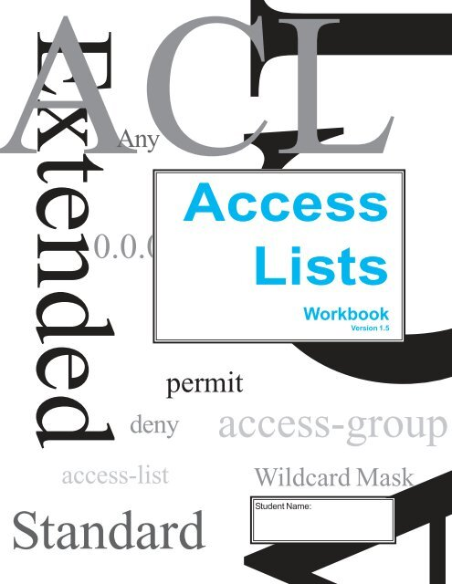 Access Lists Workbook_Student Edition v1_5
