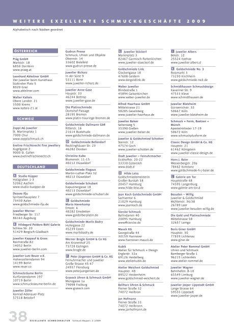 38exzellente schmuckkultur  Schmuck Magazin