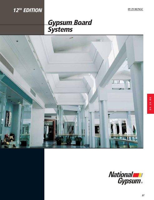 gypsum board systems national gypsum