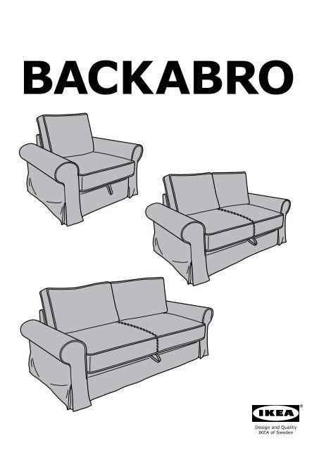 ikea backabro housse de fauteuil