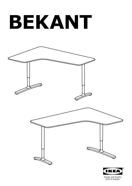 Bureau D Angle Ikea : bureau, angle, BEKANT, Bureau, D'angle, S69006410, Plan(s), Montage