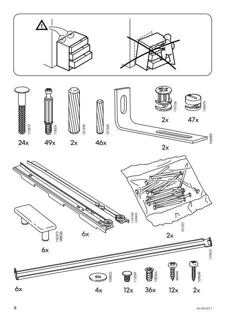 Ikea Malm Cassettiera 6 Cassetti