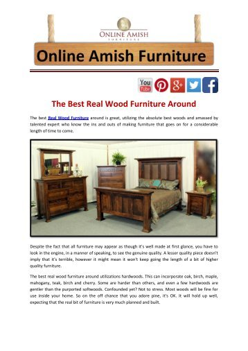 Advantages Of Selecting Wood Furniture Online
