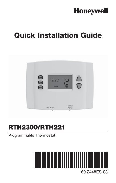Thermostat Operating Manual Further Honeywell Thermostat On Wiring