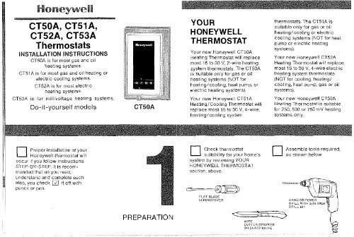Honeywell Standard Non-Programmable Thermostat (CT5X